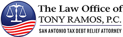 Tony Ramos tax debt relief logo